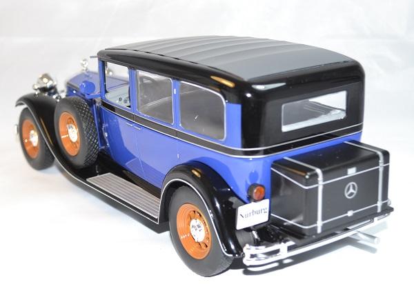Mercedes typ nurburg 460 460k bleu mcg 1 18 autominiature01 com 2