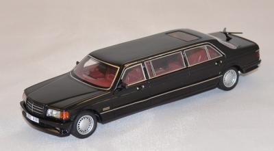 Mercedes W126 stretch limousine black 1990 Néo 1/43