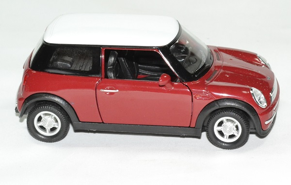 mini cooper rouge miniature by welly 1 32 wel49766r. Black Bedroom Furniture Sets. Home Design Ideas