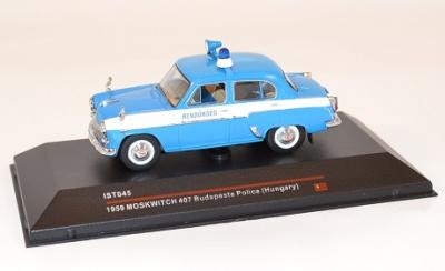 Moskwitch 407 1959 Police de Budapest Hongrie Ist 1/43