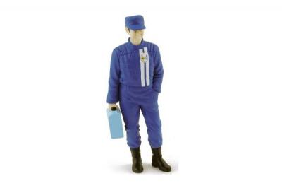 NOREV figurine mécanicien ALPINE RENAULT avec valise 1-18