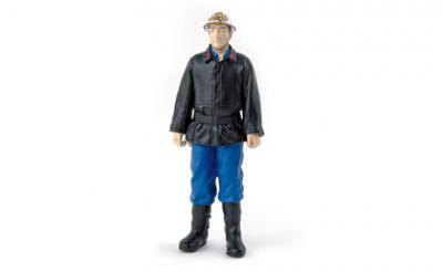 Figurine fire fighter années 60 NOREV 1-18