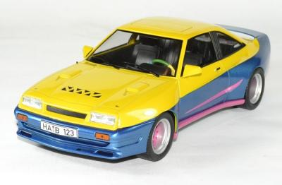 Opel manta B Mattig jaune - bleu