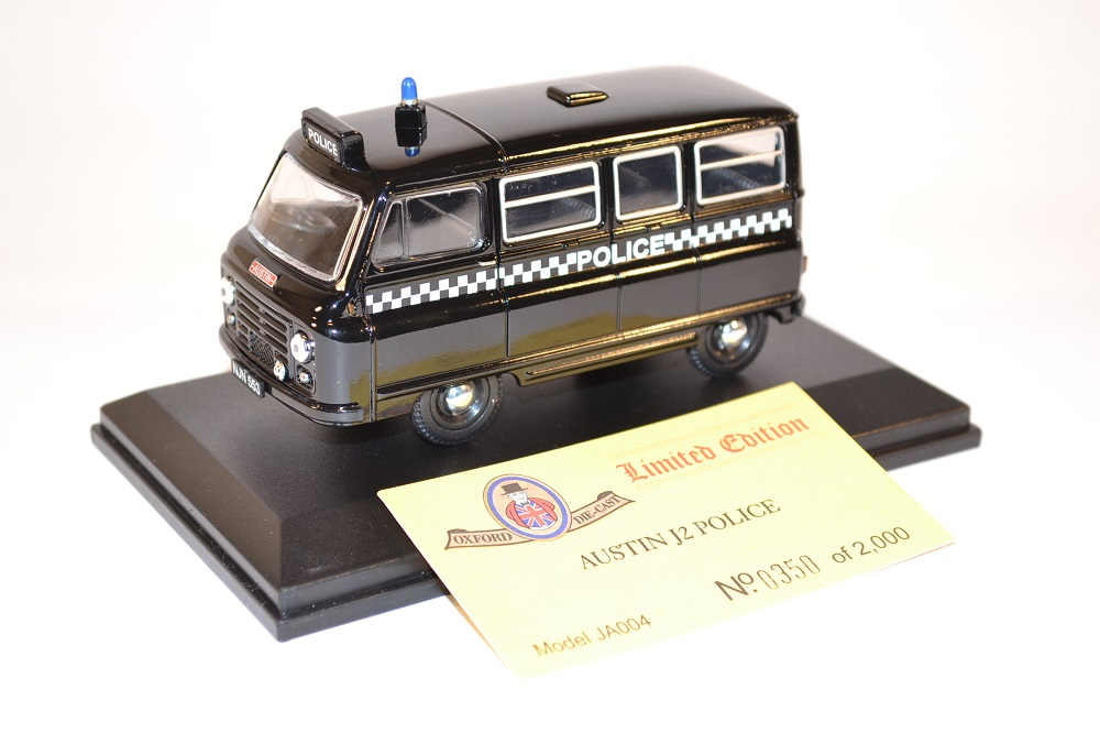 Oxford 1 43 austin j2 police edition limit e miniature collection autominiature01 com 1