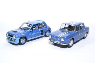 Coffret pack Renault R5 turbo bleu et R8 gordini 1100