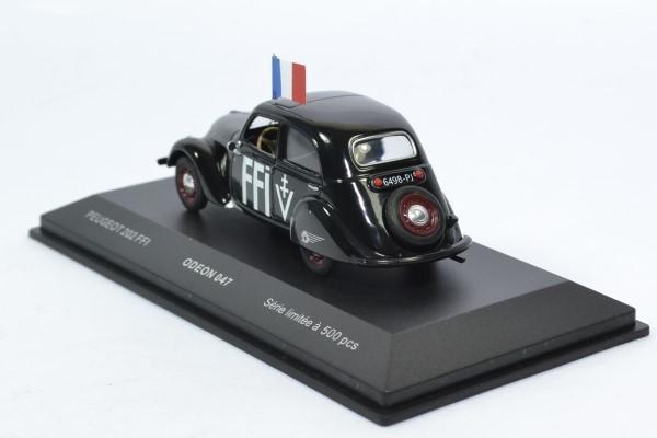 Peugeot 202 1938 ffi 1 43 odeon autominiature01 odeon047 2