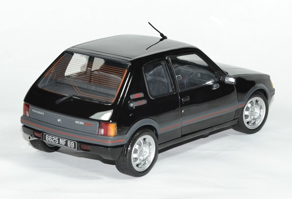 peugeot 205 gti 1 9l noire de 1988 miniature norev au 1 18. Black Bedroom Furniture Sets. Home Design Ideas