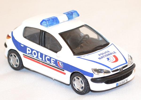 Peugeot 206 police nationale oliex miniature auto autominiature01 com 2