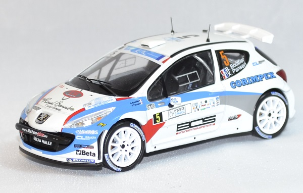 Peugeot 207 s 2000 rallye corse 2013 whitebox 1 43 autominiature01 com 1