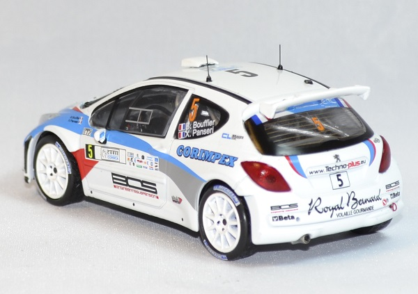 Peugeot 207 s 2000 rallye corse 2013 whitebox 1 43 autominiature01 com 2