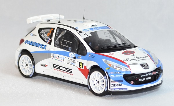 Peugeot 207 s 2000 rallye corse 2013 whitebox 1 43 autominiature01 com 3