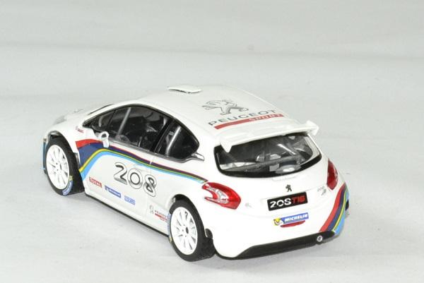 Peugeot 208 t 16 blanche 1 43 norev autominiature01 2