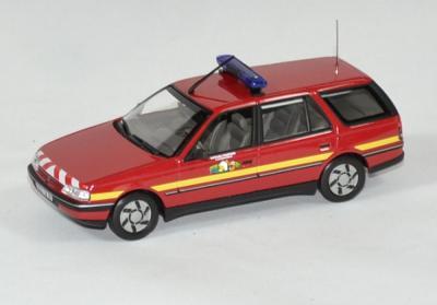 Peugeot 405 break rouge Sapeurs Pompiers 1991