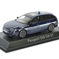 Peugeot 508 sw gt gendarmerie 2018 noev 1 43 autominiature01 475830 1