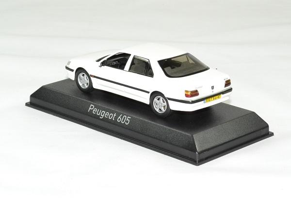 Peugeot 605 blanc 1988 norev 1 43 autominiature01 2