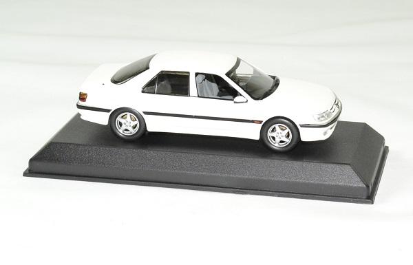 Peugeot 605 blanc 1988 norev 1 43 autominiature01 3