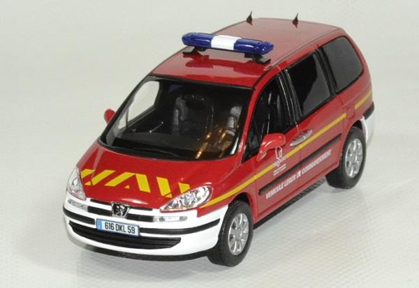 Peugeot 807 pompier 1 43 norev autominiature01 1