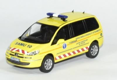 Peugeot 807 jaune SAMU de Troyes de 2013