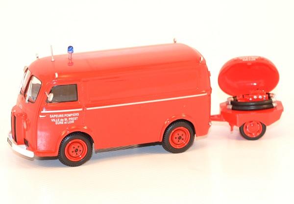 Peugeot d3 avec motopompe pompiers 1 43 eligor 101520 saint prest autominiature01 com 1