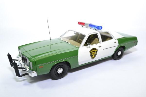 Plymouth fury police chicksaw 1975 greenlight 1 18 autominiature01green19076 1