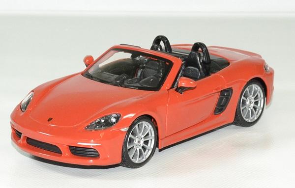 Porsche 718 boxter orange 1 24 bburago autominiature01 1