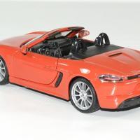 Porsche 718 boxter orange 1 24 bburago autominiature01 2
