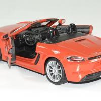 Porsche 718 boxter orange 1 24 bburago autominiature01 4