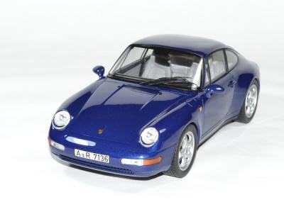 Porsche 911 carrera bleu métallisé 1993
