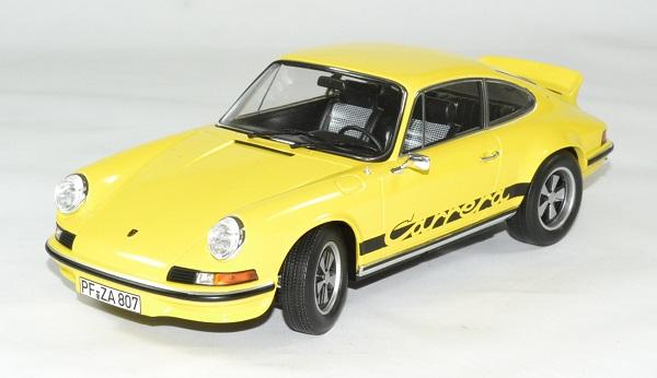 Porsche 911 rs jaune touring 1973 norev 1 18 autominiature01 1