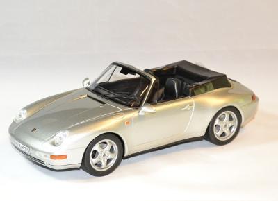 Porsche 911 cabriolet argent 1993