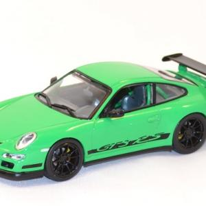 Porsche gt3 997 rs verte miniature yatming signature 1 43 autominiature01 com 1