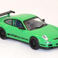 Porsche gt3 997 rs verte miniature yatming signature 1 43 autominiature01 com 2