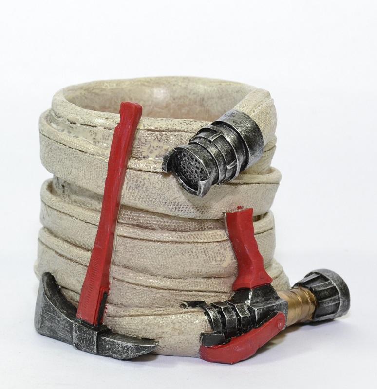 Pot crayons pompier tuyaux lance ldv 10cm autominiature01 1