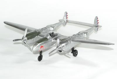 Avion P38 Lightning Red Bull new Ray 1/48 nwr21253
