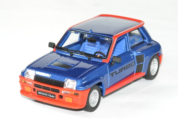 Renault 5 turbo bleu 1 24 bburago autominiature01 1