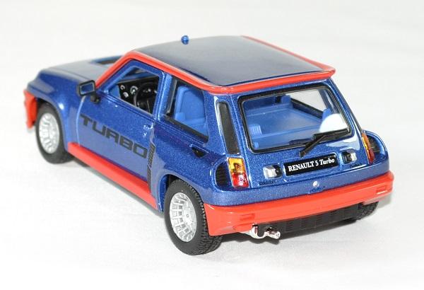 Renault 5 turbo bleu 1 24 bburago autominiature01 2