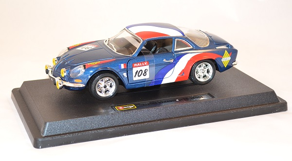renault alpine a110 1600 rallye 1971 miniature bburago 1 24. Black Bedroom Furniture Sets. Home Design Ideas