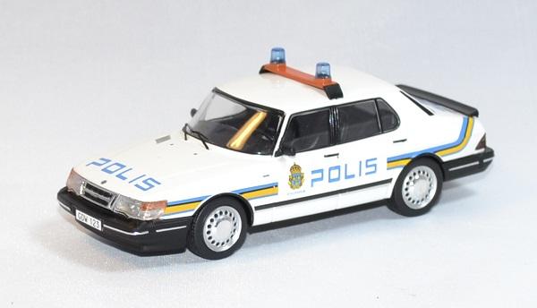Saab 900i police suede 1987 ixo 1 43 autominiature01 1