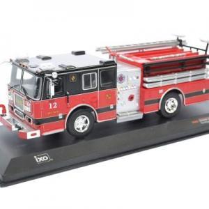 Seagrave Camion de Pompier Américain #33 rouge-noir