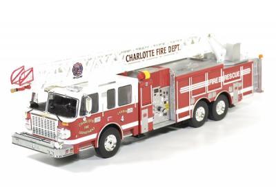 Smeal Grande echelle Fire truck Charlotte Fire Dpt