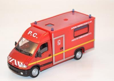 Renault Master - pompiers -1998 PC Cellule de Commandement Eure et Loire au 1-50 SOLIDO