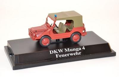 Dkw Munga 4 pompiers fire brigade baché Starline 1-43