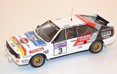 Audi Quattro #3 Mikkola-Hertz 2ème RAC 1984 1/43 trofeu