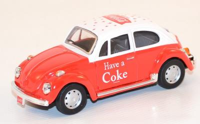 Volkswagen bettle red and white 1966 Coca Cola 1/43 Motor City