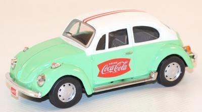 Volkswagen coccinelle vert blanc 1966 Coca Cola