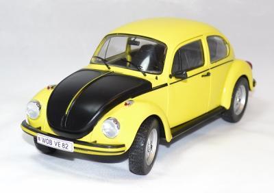 Volkswagen coccinelle 1303 gsr 1973 jaune/noire solido 1/18