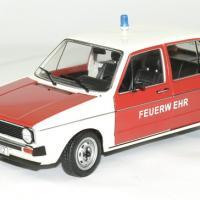 Volkswagen golf 1 pompier allemand 1 18 solido autominiature01 2
