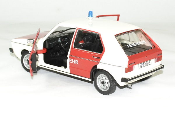 Volkswagen golf 1 pompier allemand 1 18 solido autominiature01 4