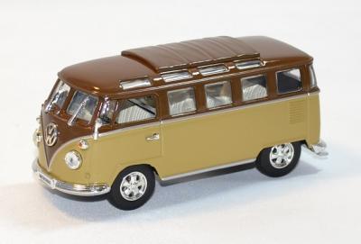 Volkswagen minibus 1962 marron et creme