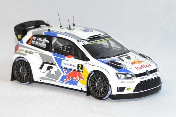 Volkswagen polo r wrc latvala rallye france 2014 whitebox 1 43 autominiature01 com 2
